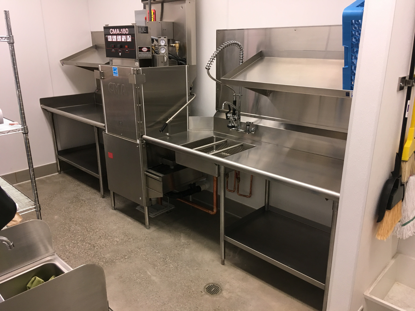 All Stainless - Straight Soil Dishtable w/Undershelf