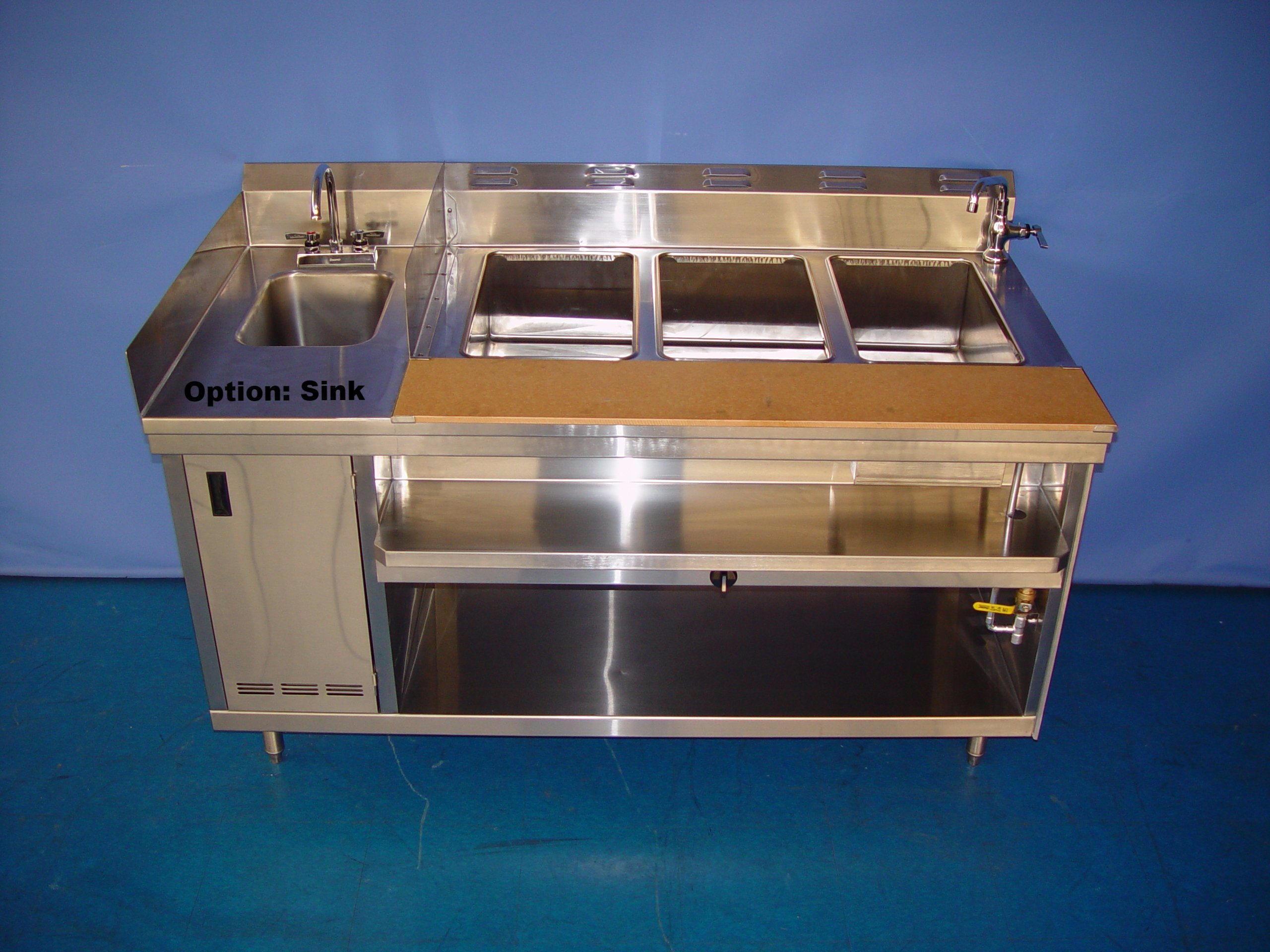 HEAVY DUTY - HOT FOOD TABLE-ELECTRIC INDIVIDUAL WELLS (WET/DRY)