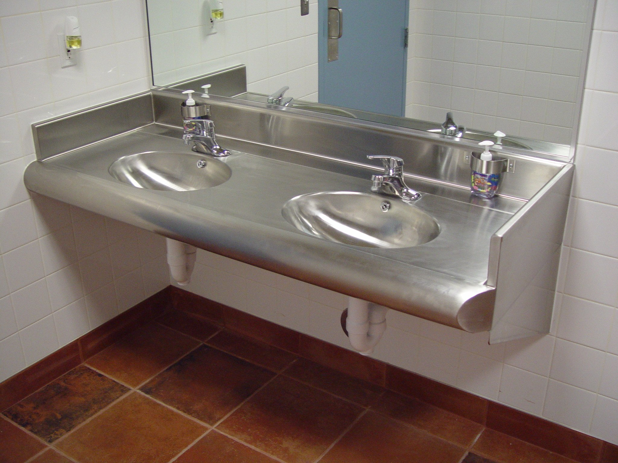 Restroom Vanity Assembly Double Bowl Rva 84 2b 0 00 Asi Equip Commercial Kitchen And Bar Equipment